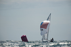 2012 Olympic Games London / Weymouth<br /> 470 men race course<br /> Biehl Graham, Jensen Iain, (USA, 470 Men)