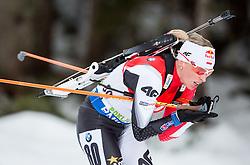 Krystyna Guzik of Poland competes during Women 7.5 km Sprint at day 1 of IBU Biathlon World Cup 2014/2015 Pokljuka, on December 18, 2014 in Rudno polje, Pokljuka, Slovenia. Photo by Vid Ponikvar / Sportida