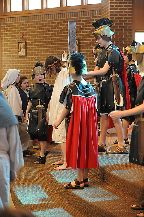 Shepherd of the Hills, Eden, Wis., presents Living Way of the Cross at St. Bernard Church, Green Bay.