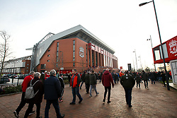 Fans arrive at Anfield ahead of Liverpool v Newcastle United - Mandatory by-line: Robbie Stephenson/JMP - 26/12/2018 - FOOTBALL - Anfield - Liverpool, England - Liverpool v Newcastle United - Premier League