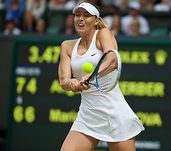 LONDON, ENGLAND - Tuesday, July 1, 2014: Maria Sharapova (RUS) during the Ladies' Singles 4th Round match on day eight of the Wimbledon Lawn Tennis Championships at the All England Lawn Tennis and Croquet Club. (Pic by David Rawcliffe/Propaganda)
