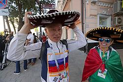 June 21, 2018 - EUM20180621DEP07.JPG.ROSTOV, Rusia.- Soccer-Futbol-Mundial.- 21 de junio 2018.- Aficionados de Corea y México ya se encuentran en esta ciudad en donde se llevará a cabo el próximo sábado el partido entre ambas selecciones. Foto: Agencia EL UNIVERSALLuis CortésRCC. (Credit Image: © El Universal via ZUMA Wire)