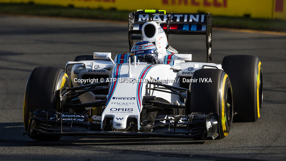 Valtteri BOTTAS, FIN, Team Williams Martini Racing, Williams FW36, Mercedes-Benz PU106A Hybrid,<br /> AUSTRALIAN Formula One Grand Prix 2015, Albert Park  - <br /> Formel 1 Rennen in Australien, Motorsport, F1 GP, 13.03. Honorarpflichtiges Foto, Fee liable image, <br /> Copyright &copy; ATP Damir IVKA