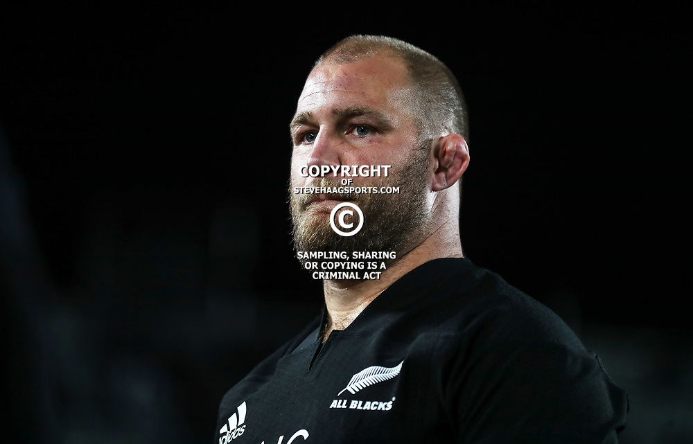 All Blacks centurion Owen Franks during the Bledisloe Cup and Rugby Championship rugby match between the New Zealand All Blacks and Australia Wallabies at Eden Park in Auckland, New Zealand on Saturday, 25 August 2018. Photo: Simon Watts / lintottphoto.co.nz