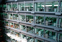 ©Tom Wagner 2004<br /> NEC interior atrium at NEC headquarters, tokyo japan