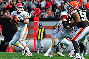 Sept. 19, 2010; Cleveland, OH, USA; Kansas City Chiefs quarterback Matt Cassel (7) during the third quarter against the Cleveland Browns at Cleveland Browns Stadium. The Kansas City Chiefs beat the Cleveland Browns 16-14. Mandatory Credit: Jason Miller-US PRESSWIRE