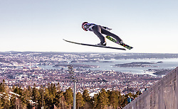 10.03.2019, Holmenkollen, Oslo, NOR, FIS Weltcup Skisprung, Raw Air, Oslo, Einzelbewerb, Herren, im Bild Stefan Kraft (AUT) // Stefan Kraft of Austria during the men's individual competition of the Raw Air Series of FIS Ski Jumping World Cup at the Holmenkollen in Oslo, Norway on 2019/03/10. EXPA Pictures © 2019, PhotoCredit: EXPA/ JFK