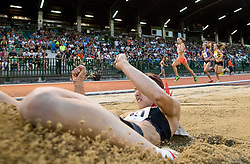 Nina Kolaric of Slovenia competes at Long jump Women during 20th European Athletics Classic Meeting in Honour of Miners' Day in Velenje on July 1, 2015 in Stadium Velenje, Slovenia. Photo by Vid Ponikvar / Sportida