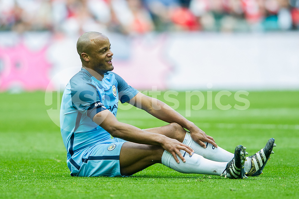 Vincent Kompany of Manchester City during the The FA Cup Semi Final match between Arsenal and Manchester City at Wembley Stadium, London, England on 23 April 2017. Photo by Salvio Calabrese.