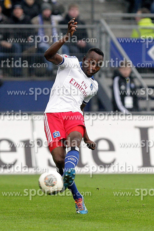 22.02.2014, Imtech Arena, Hamburg, GER, 1. FBL, Hamburger SV vs Borussia Dortmund, 22. Runde, im Bild Jacques Zoua (HSV) // during the German Bundesliga 22th round match between Hamburger SV and Borussia Dortmund at the Imtech Arena in Hamburg, Germany on 2014/02/23. EXPA Pictures &copy; 2014, PhotoCredit: EXPA/ Eibner-Pressefoto/ Latendorf<br /> <br /> *****ATTENTION - OUT of GER*****