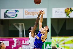 Basketball match between KK Zlatorog and KK Helios Suns in 1st match of Nova KBM Slovenian Champions League Final 2015/16 on May 29, 2016  in Dvorana Zlatorog, Lasko, Slovenia.  Photo by Ziga Zupan / Sportida