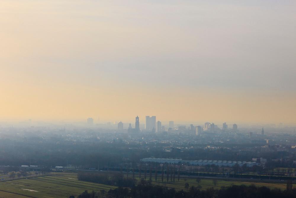 Nederland, Utrecht, Utrecht 10-01-2011;.Skyline Utrecht..luchtfoto (toeslag), aerial photo (additional fee required).foto/photo Siebe Swart
