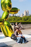 visitors at Jeff Koons on the Roof of Metropolitan Museum of Art in New York City in October 2008