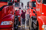 New Volvo Tractor Trailers at SeaLogix Port of Los Angeles