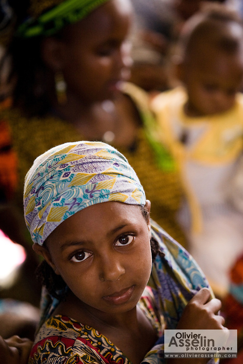 Young refugee girl from Central African Republic at the Garga Sarali integrated health center in the town of Garga Sarali, near Bertoua, Cameroon, on Tuesday September 15, 2009.