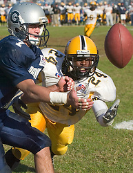 08 November 2003: Luke McArdle of Georgetown Football