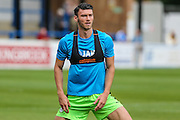 Forest Green Rovers Keiffer Moore (14) warming up during the Vanarama National League match between Dover Athletic and Forest Green Rovers at Crabble Athletic Ground, Dover, United Kingdom on 10 September 2016. Photo by Shane Healey.