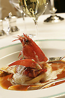 """Homard Bleu""....A lobster dish ....at the Restaurant Meurice in the Hotel Meurice, Paris....Photograph by Owen Franken....May 26. 2004"