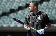 CHICAGO - JUNE 25:  Jose Abreu #79 of the Chicago White Sox looks on during batting practice prior to the game against the Toronto Blue Jays on June 25, 2016 at U.S. Cellular Field in Chicago, Illinois.  The Blue Jays defeated the White Sox 10-8.  (Photo by Ron Vesely) Subject:    Jose Abreu