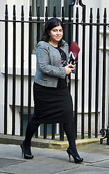 © London News Pictures. 18/12/2012. London, UK.  Baroness Warsi MP arriving on Downing Street, in London for cabinet meeting on December 18, 2012 Photo credit: Ben Cawthra/LNP.