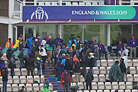 Cricket - 2019 ICC Cricket World Cup - Group Stage: South Africa vs. West Indies<br /> <br /> Chris Gayle of the West Indies has some pictures with fans wearing a silly hat at the Hampshire Bowl, Southampton.<br /> <br /> COLORSPORT/SHAUN BOGGUST