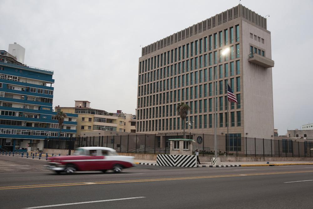 US Embassy in Havana, Cuba.<br /> <br /> Embajada americana en Cuba, situada junto al famoso Malec&oacute;n.