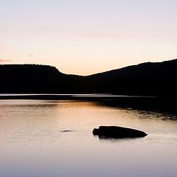Sunset at Christine Lake in Stark, New Hampshire.