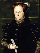 Portrait of Mary I of England   Source Scanned from Hearn, Karen, ed. Dynasties: Painting in Tudor and Jacobean England 1530-1630.   painted 1555-58  by Hans Eworth