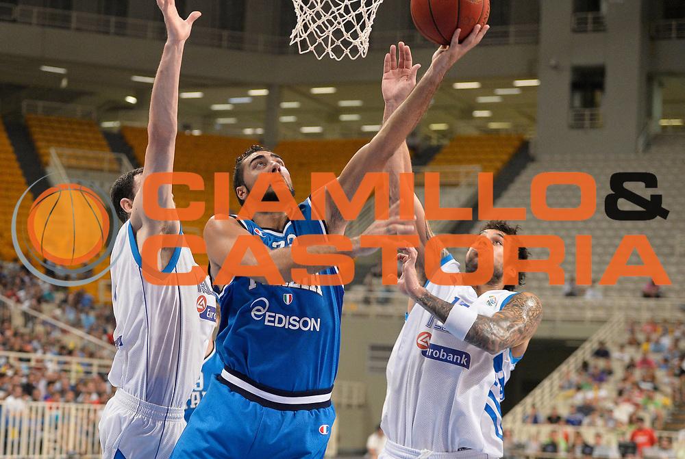 DESCRIZIONE : Atene Akropolis Cup Italia Grecia Italy Greece<br /> GIOCATORE : Pietro Aradori<br /> CATEGORIA : tiro penetrazione<br /> SQUADRA : Nazionale Italia Maschile Uomini<br /> EVENTO : Atene Akropolis Cup<br /> GARA : Italia Grecia Italy Greece<br /> DATA : 29/08/2013<br /> SPORT : Pallacanestro<br /> AUTORE : Agenzia Ciamillo-Castoria/R.Morgano<br /> Galleria : FIP Nazionali 2013<br /> Fotonotizia : Atene Akropolis Cup Italia Grecia Italy Greece<br /> Predefinita :
