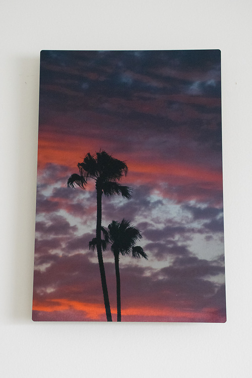 'July Sunset' Photograph Printed on Metal.