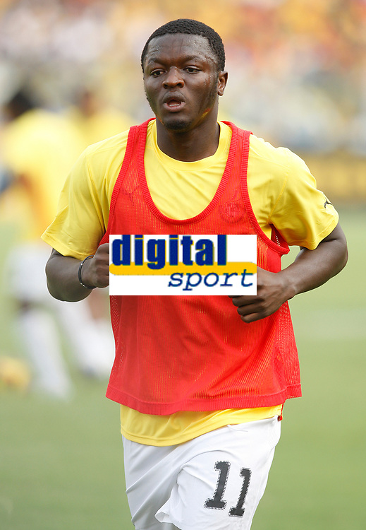 Photo: Steve Bond/Richard Lane Photography.<br />Ghana v Guinea. Africa Cup of Nations. 20/01/2008. Sulley Muntari of Ghana and Portsmouth warms up