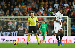 November 3, 2018 - Valencia, Valencia, Spain - Geoffrey Kondogbia of Valencia CF during the La Liga match between Valencia CF and Girona FC at Mestala Stadium on November 3, 2018 in Valencia, Spain (Credit Image: © AFP7 via ZUMA Wire)