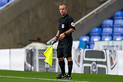 Assistant referee Stuart Butler during the EFL Cup match between Reading and Luton Town at the Madejski Stadium, Reading, England on 15 September 2020.