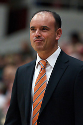 February 24, 2011; Stanford, CA, USA;  Oregon St. head coach Scott Rueck during the first half against the Stanford Cardinal at Maples Pavilion.