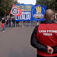Casapound  alla manifestazione della Lega Nord
