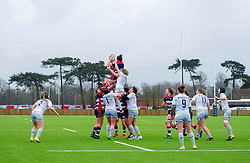 Kate Newton of Bristol Ladies wins the ball in a line out - Mandatory by-line: Paul Knight/JMP - 30/03/2018 - RUGBY - Shaftsbury Park - Bristol, England - Bristol Ladies v Saracens Women - Tyrrells Premier 15s
