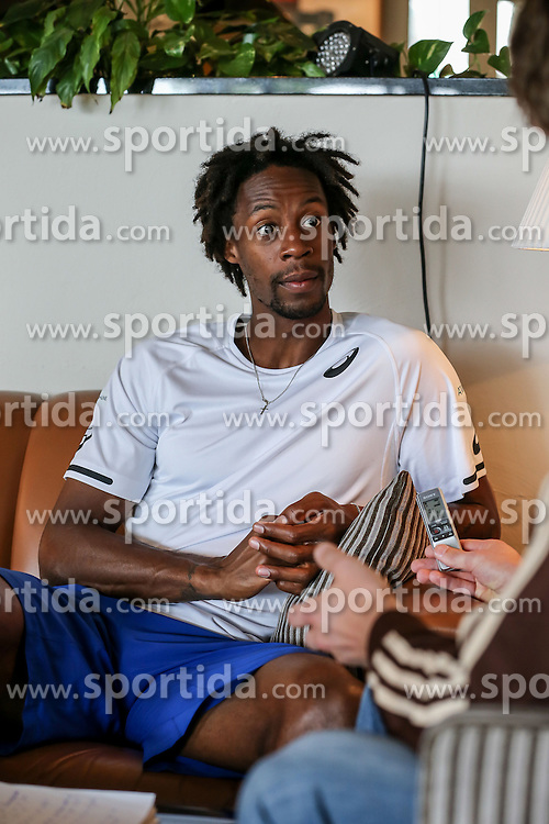 17.06.2015, Gerry Weber Open, Halle, GER, Gael Monfils im Portrait, im Bild Gael Monfils (FRA) bei einem Interview und Fototermin // Tennis Player Gael Monfils of France during a Interview and Photoshooting at the Gerry Weber Open in Halle, Germany on 2015/06/17. EXPA Pictures &copy; 2016, PhotoCredit: EXPA/ Eibner-Pressefoto/ Horn<br /> <br /> *****ATTENTION - OUT of GER*****