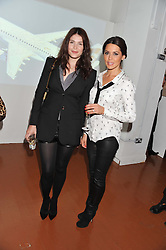 Left to right, GEMMA ARTERTON and DANIELLE LINEKER at the launch of Flight BA2012 - an evening of Art, Food and Film to see Olympic Games inspires work by rising British Talent held at BA's pop up venue at 3-10 Shoreditch High Street, London E1 on 3rd April 2012.