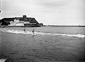 1959 - Water skiing at Balscadden Bay, Howth