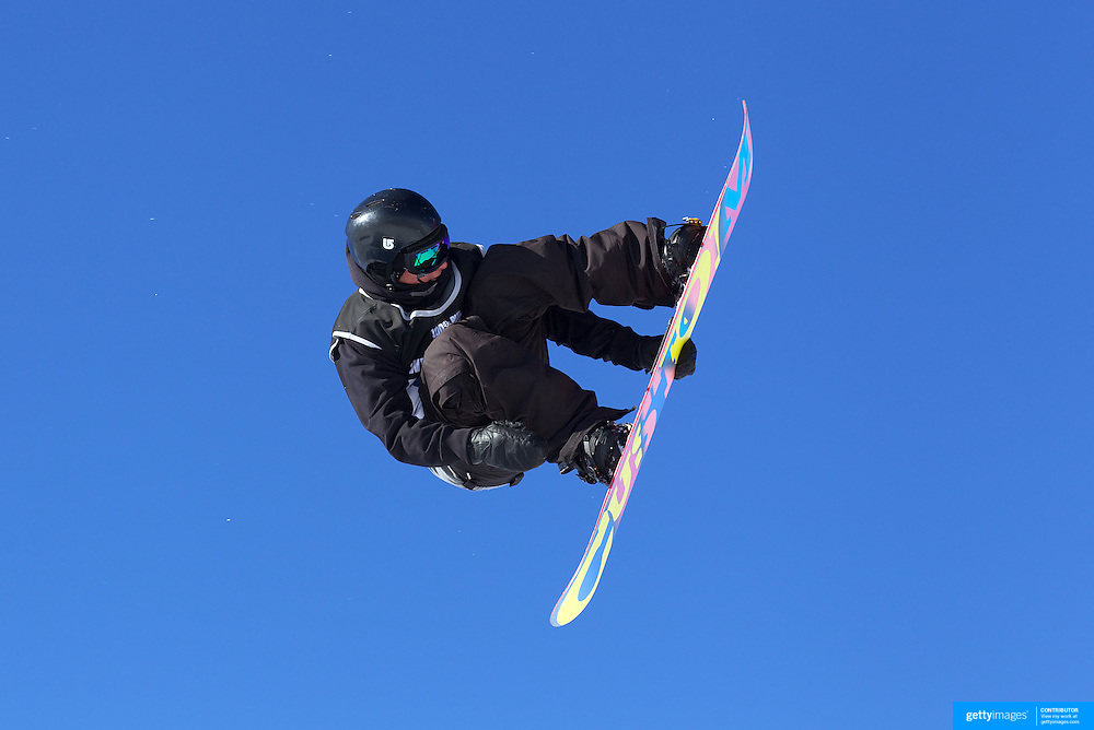Ben Ferguson, USA,  in action during the Men's Snowboard Slopestyle competition at Snow Park, New Zealand during the Winter Games. Wanaka, New Zealand, 21st August 2011. Photo Tim Clayton
