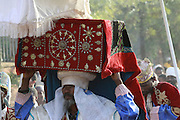 Africa, Ethiopia, Axum, The Church of Our Lady Mary of Zion said to houses the Biblical Ark of the Covenant The ark is brought out for the Timket ceremony (celebration of Epithany, Christian Orthodox Church) 2010