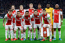 Teamphoto Ajax during the Europa League match R32 second leg between Ajax and Getafe at Johan Cruyff Arena on February 27, 2020 in Amsterdam, Netherlands