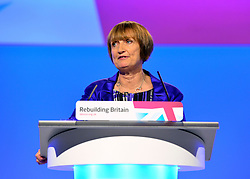 © Licensed to London News Pictures. 02/10/2012. Manchester, UK Tessa Jowell addresses conference. The Labour Party Conference Day 3 at Manchester Central. Photo credit : Stephen Simpson/LNP