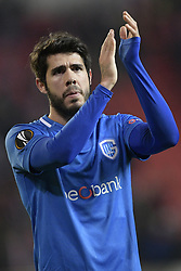 February 14, 2019 - Prague, CZECH REPUBLIC - Genk's Alejandro Pozuelo pictured after a soccer game between Czech club SK Slavia Praha and Belgian team KRC Genk, the first leg of the 1/16 finals (round of 32) in the Europa League competition, Thursday 14 February 2019 in Prague, Czech Republic. BELGA PHOTO YORICK JANSENS (Credit Image: © Yorick Jansens/Belga via ZUMA Press)