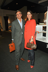 VIP reception of the Pavilion of Art & Design London 2010 held in Berkeley Square, London on 12th October 2010.<br /> Picture Shows:-DEMITRI & ELIZABETH HORNE.