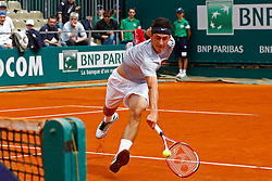 16/04/2012 Monte Carlo, Monaco. Bernard Tomic (AUS) in action during the first round match between Bernard Tomic (AUS) and Denis Istomin (UZB) // during Rolex Masters tennis tournament of ATP World Tour at Country Club, Monte Carlo, Monaco on 2012/04/16. EXPA Pictures © 2012, PhotoCredit: EXPA/ Mitchell Gunn