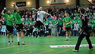 HÅNDBOLD: Dan Beck Hansen (Nordsjælland) bryder igennem under kampen i Herre Håndbold Ligaen mellem TMS Ringsted og Nordsjælland Håndbold den 25. februar 2019 i Ringsted Sportscenter. Foto: Claus Birch.