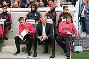 Manchester United Manager Jose Mourinho during the Premier League match between Brighton and Hove Albion and Manchester United at the American Express Community Stadium, Brighton and Hove, England on 19 August 2018.