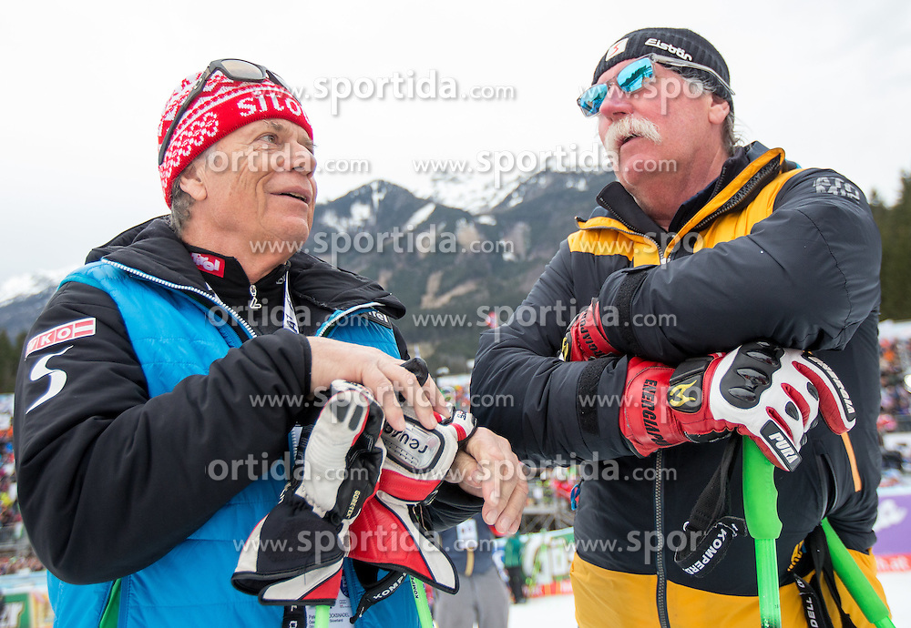28.02.2016, Hannes Trinkl Rennstrecke, Hinterstoder, AUT, FIS Weltcup Ski Alpin, Hinterstoder, Riesenslalom, Herren, 2. Lauf, im Bild v.l. Prof. Peter Schröcksnadel (ÖSV Präsident), Ferdinand Hirscher, // Peter Schroecksnadel Austrian Ski Association President and Ferdinand Hirscher after men's Giant Slalom of Hinterstoder FIS Ski Alpine World Cup at the Hannes Trinkl Rennstrecke in Hinterstoder, Austria on 2016/02/28. EXPA Pictures © 2016, PhotoCredit: EXPA/ Johann Groder