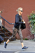 Sept. 19, 2014 - New York City, NY, United States - <br /> <br /> Liev Schriber and Naomi Watts take their kids Sam and Sasha to school<br /> <br /> Actors Liev Schriber and Naomi Watts take their kids Sam and Sasha to school on September 19 2014 in New York City. Liev has the children 'three up' on his bicycle, whilst Naomi atruggles to keep up as she jogs behind them<br /> ©Exclusivepix